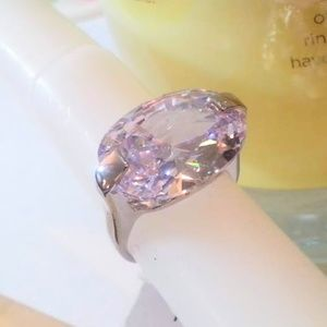 Large sideways oval Purple Ice ring size 5.75 NWT